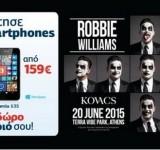 Γερμανός: Δώρο εισιτήριο για τον Robbie Williams με τα… Lumia 640 & 635!